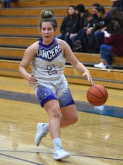 McQueen's Rhyann Kindrick dribbles the ball during a recent game.