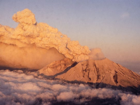 A picturesque view of clouds of ash oozing from the