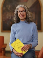 Helen Rothberg inside the Marist College Library in