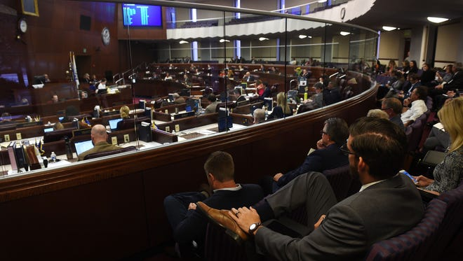 The Assembly is seen in session at the Nevada State Legislature building in Carson City on June 3, 2017.