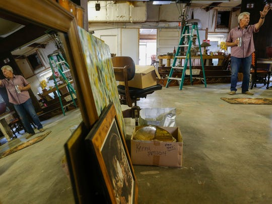 Mike Hill, owner of Cross Creek Architectural Salvage, talks about some of the items he has salvaged.