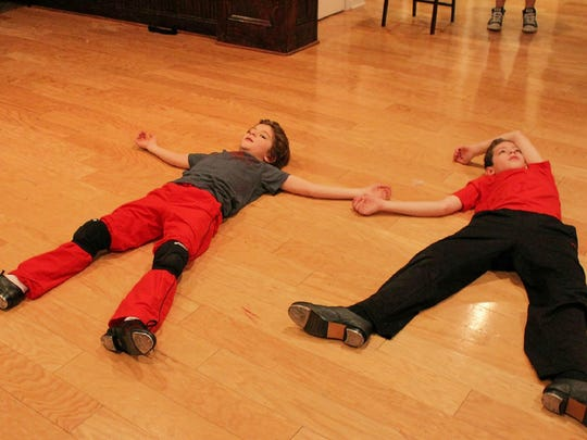 """Parker Fullmore of Manhattan (left) and James Ciccarelle of Summit share the title role in """"Billy Elliot the Musical.""""  Hexagon Players of Mendham are presenting one of the first amateur productions of the Tony-winning musical in the United States.  The show will be staged May 13 to 21 at Grace Lutheran Church in Mendham."""