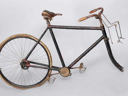 Reverend Edwin M. Ellis's bicycle, ca. 1899, traveled