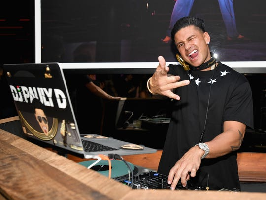 "Pauly D works the premiere of WE tv's ""Marriage Boot Camp Reality Stars"" at HYDE Sunset: Kitchen + Cocktails, Tuesday, in West Hollywood."