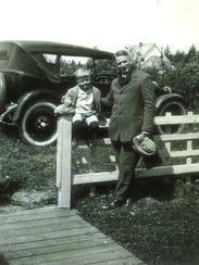 Leo Baldwin junior and senior in 1924-1925. Leo Jr.