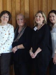 Mary La Rue, left, Yvette Collins, Lisa Arteaga, and