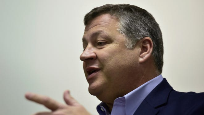 U.S. Rep. Bill Shuster is pictured on Friday, April 8, 2016, in the Chambersburg area.