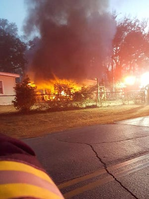 TFD fought a Sunday evening fire on Isabelle Drive