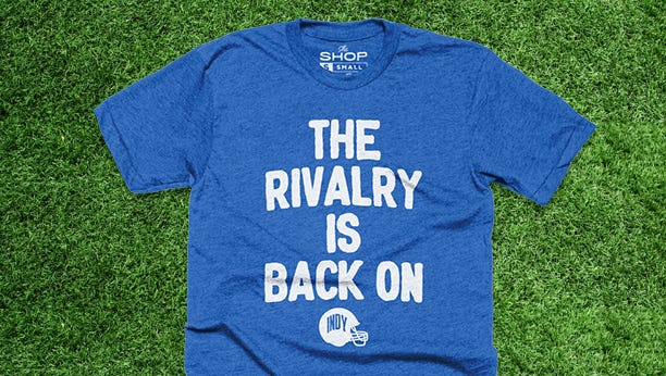 The Shop Indy is fast to print. They've already started printing shirts with Colts GM Chris Ballard's press conference-ending words.