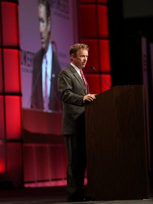 U.S. Senator Rand Paul, R-Ky., address the National Urban League Convention in Cincinnati on Friday.