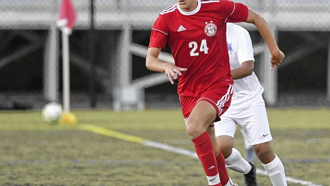 Junior midfielder Gabe O'Reilly is among five returning starters for the St. Charles soccer team and fifth-year coach Chris Vonau. The Cardinals opened their season Sept. 8 against CCL rival Ready.