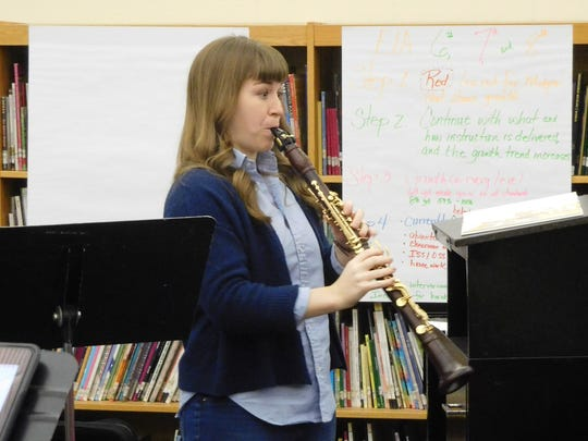 Kari Landry showed the students what the clarinet can