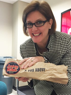 Amy Fite with a Jersey's Mike sub.