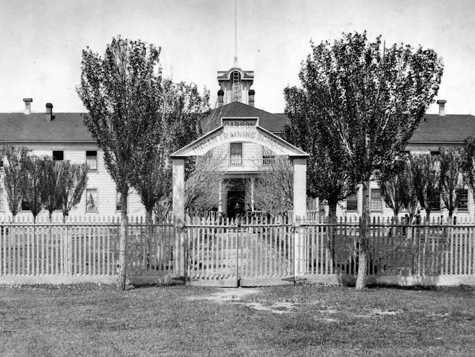 he Carson Indian Training School as it looked in the early days. Date of the photo is not know.  Courtesy Nevada State Museum
