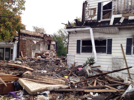 A Labor Day fire destroyed this home at Grant Avenue