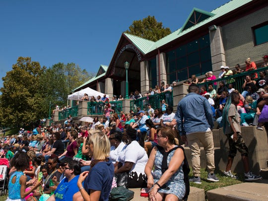 Hundreds watch dancers from Cast and Crowns perform