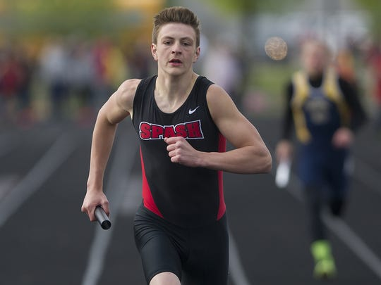 SPASH sophomore sprinter Colton Kizewski  has been off to a quick start this spring with one of the fastest times in the state in the 60 meter dash.