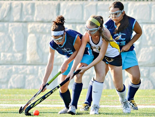Dallastown vs Red Lion in field hockey action at Horn Field in Red Lion, Pa. on Thursday, Oct. 8, 2015. Dallastown would win the game 2-0. Dawn J. Sagert - dsagert@yorkdispatch.com