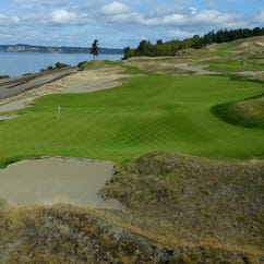 The 16th hole at Chambers Bay is ready for this year's U.S. Open.