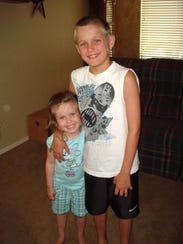 Addie Thompson, 4, and her brother, Alec, 9. If Addie