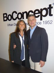 BoConcept owners Jane and Steven Syzdek hosted a fundraiser