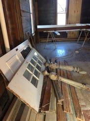 Antique items stolen from a home rehabilitation effort