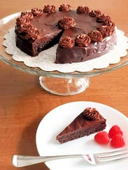 Flourless Chocolate Cake is rich, decadent and gluten