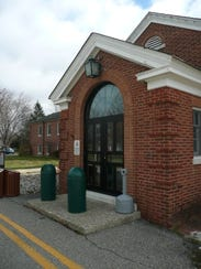 The central entrance to West Milford town hall on Nov.