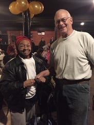 Willy Murphy, 81, and David Woods, 71, compete in the