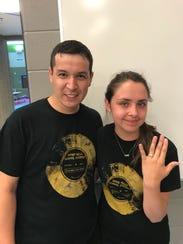 Rodrigo Vásquez and Valentina Wistuba, both teachers