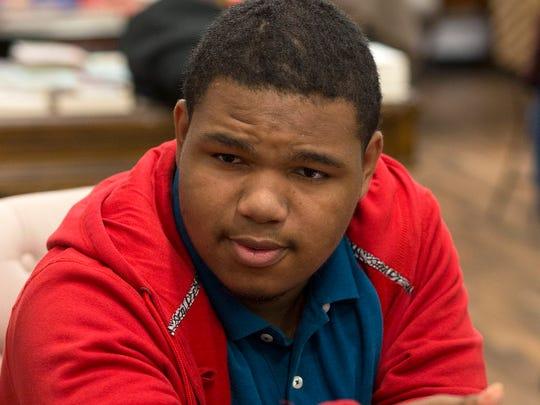 Matthew Jones, 18, is a senior at University Prep High School, a charter school in Detroit.