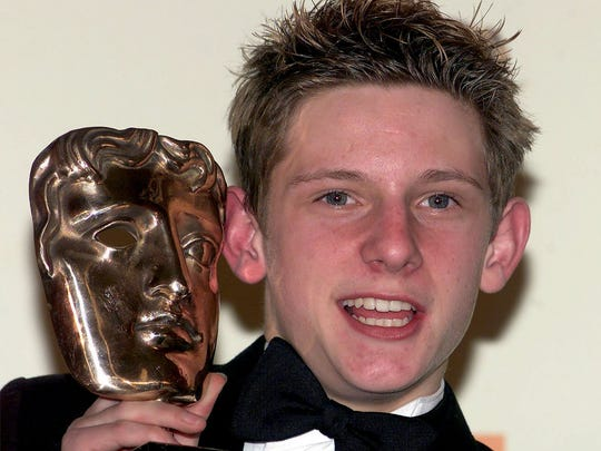 British actor Jamie Bell was the original Billy Elliot in the 2000 film. He poses backstage after he won the award for Best Actor for his role in the film during Britain's BAFTA movie awards in 2001.