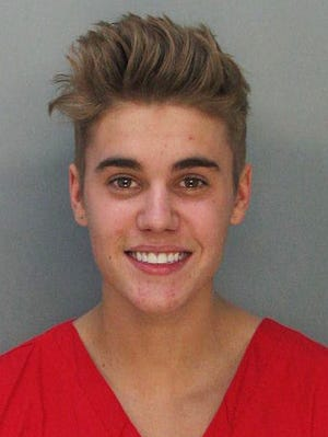 Justin Bieber: The pop singer joined the not-so-highly-esteemed celebrity mugshot club in January 2014 after he was arrested for allegedly drag-racing on a Miami Beach Street. (Police say Bieber has been charged with resisting arrest without violence in addition to drag racing and DUI.)