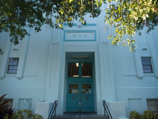 Stuart High School, pictured Tuesday, was built in