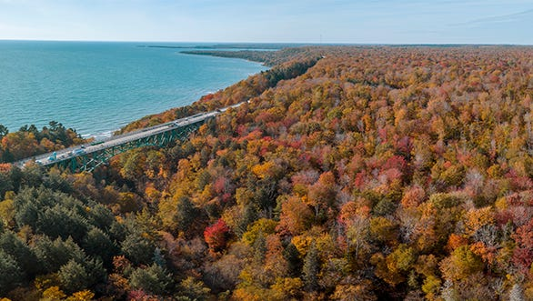 A view of the Cut River Bridge in the Upper Peninsula on Oct. 17, 2017.