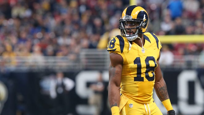 Rutgers football product Kenny Britt wears a Schutt brand helmet in the NFL, according to the company.