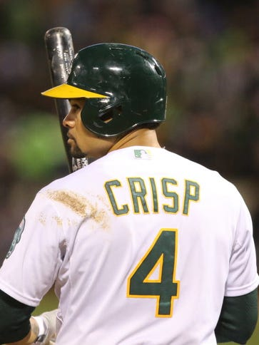The Oakland Athletics placed outfielder Coco Crisp