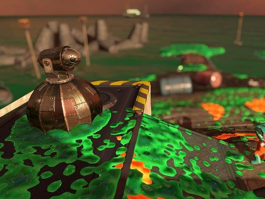 The Drizzler in Splatoon 2's Salmon Run mode.