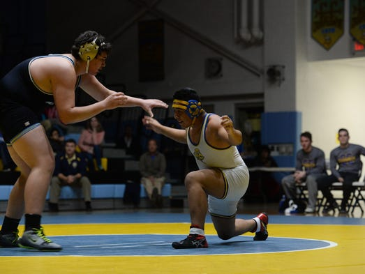 Cape's Zach Flores takes on Sussex Central's Mario