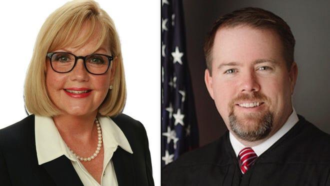 Volusia County Judge candidates Nora Hall and incumbent Judge Chris Miller