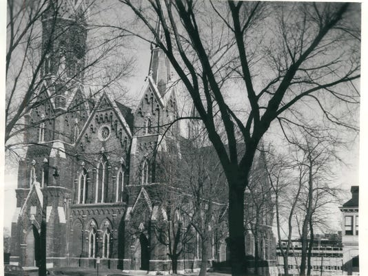 1961:  View of Trinity Evangelical Lutheran Church