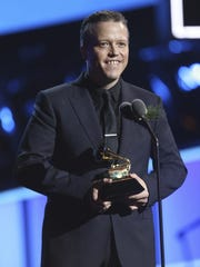 Jason Isbell accepts the best American roots song award