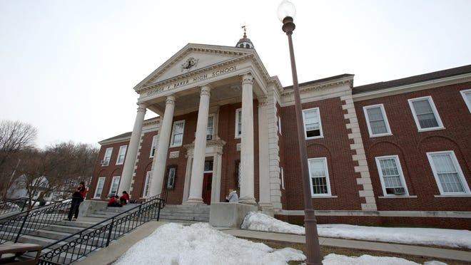 The George F. Baker High School in Tuxedo Park. An charter school application to tranform it into a STEM school was denied by the state Board of Regents on Monday.