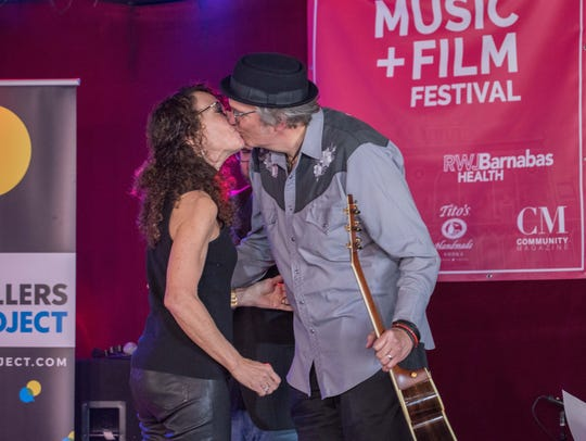 Shelli Sonstein and husband John Schaninger at The