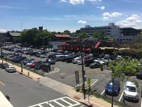 The Waller-Maple municipal parking lot in White Plains