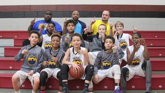 The WNC Warriors fifth grade basketball team.