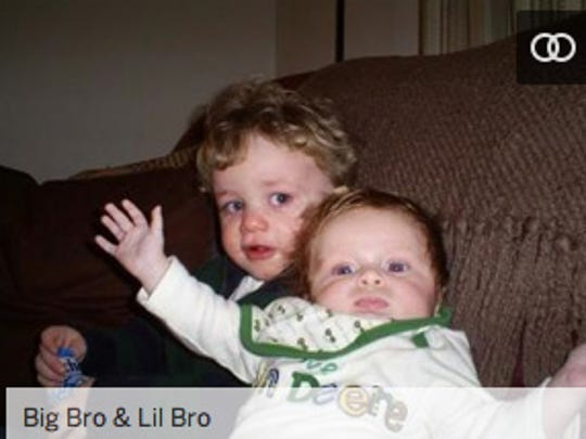"A photo posted by Lacey Spears shows Jonathon Strain, left, and Garnett Spears, and is captioned ""Big Bro & Lil Bro."""