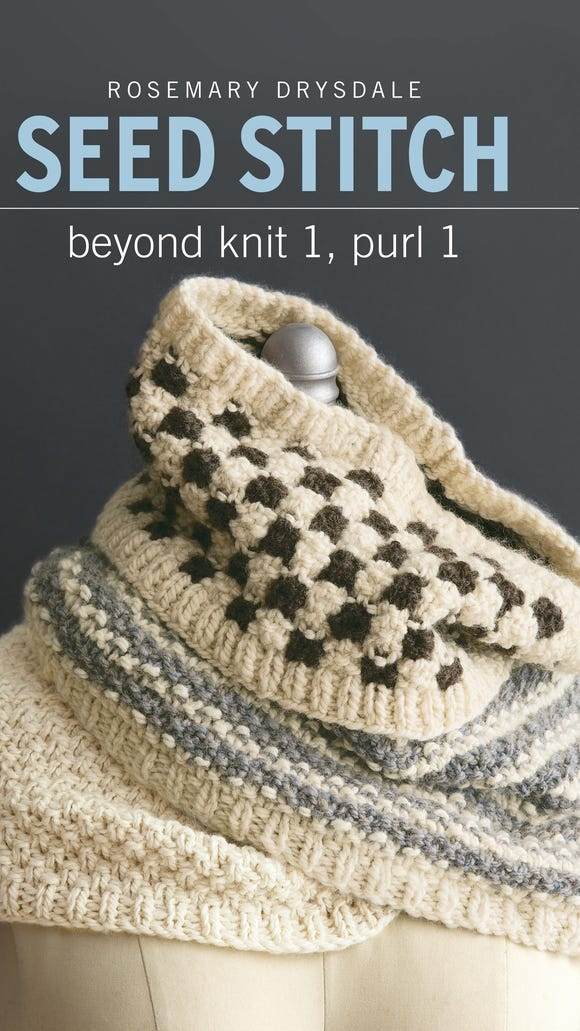 """Seed Stitch"" is a new book by Rosemary Drysdale"