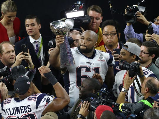 New England Patriots offensive tackle Marcus Cannon