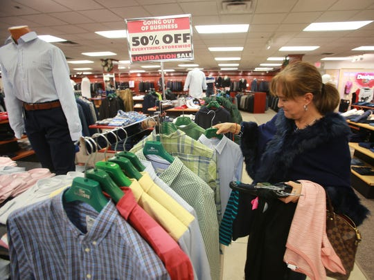 Soledad Aldana shopped at the Union Fashion store at 8701 Gateway West. The 123-year-old store is going out of business at the end of the year.